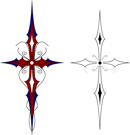 432x447 Vector Gothic Cross Final By Gothic Vampire Angel