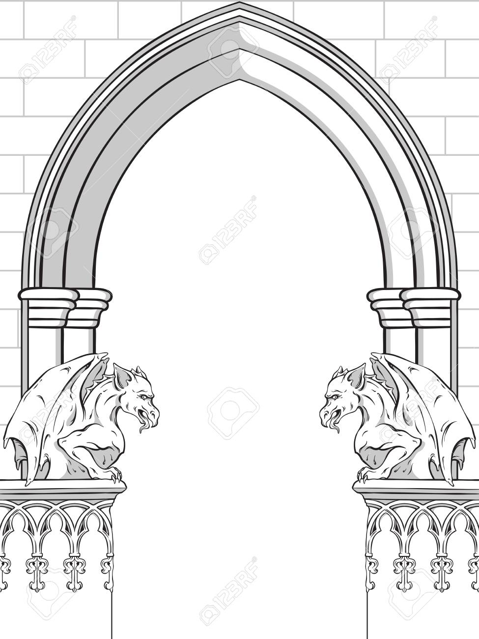 975x1300 Collection Of Gothic Frame Clipart High Quality, Free