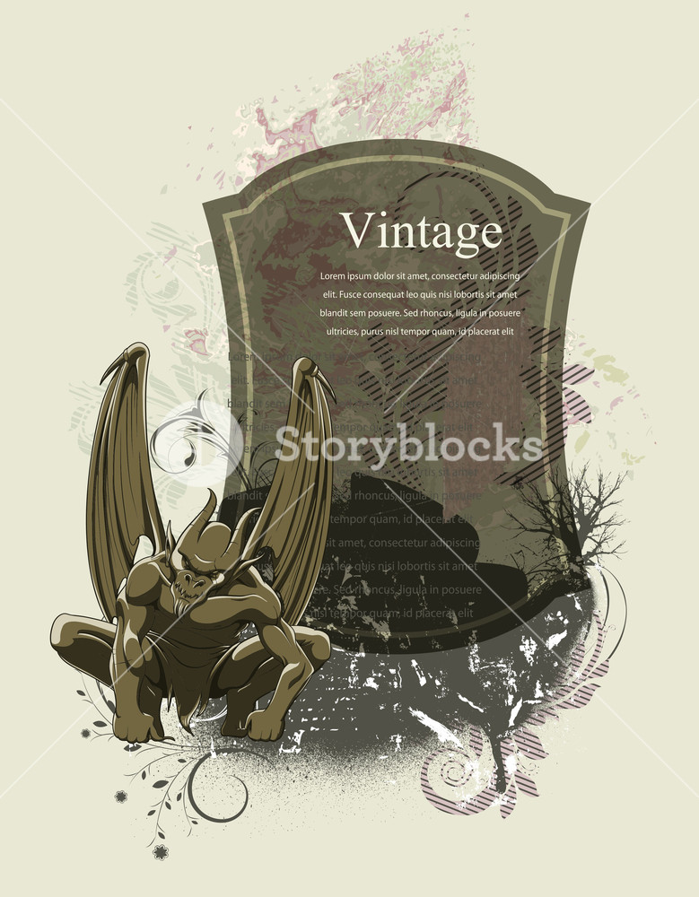 779x1000 Gothic Frame Vector Illustration Royalty Free Stock Image