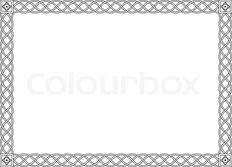 800x576 Gothic Simple Black Ornamental Decorative Frame Stock Vector