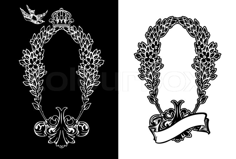 800x540 One Color Ornate Frame Stock Vector Colourbox