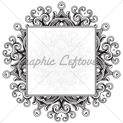 500x500 Vector Gothic Ornament Frame Gl Stock Images