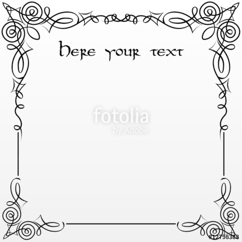 500x500 Document With Gothic Frame Stock Image And Royalty Free Vector
