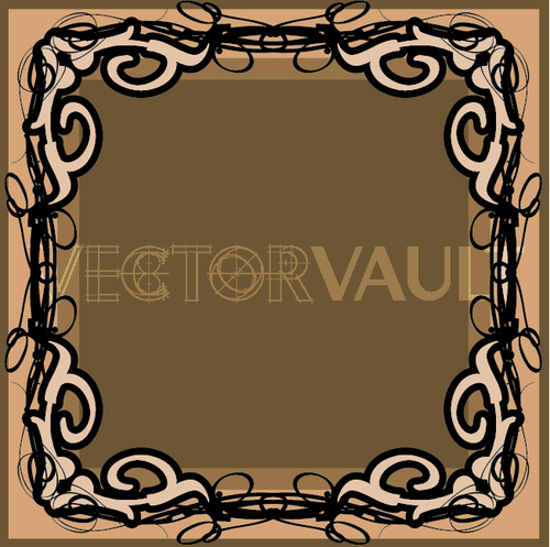 500x497 Buy Vector Gothic Frame Icon Logo Graphic Royalty Free Vectors