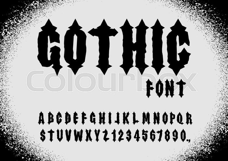 800x565 Gothic Font. Ancient Font. Gothic Letters. Vintage Alphabet