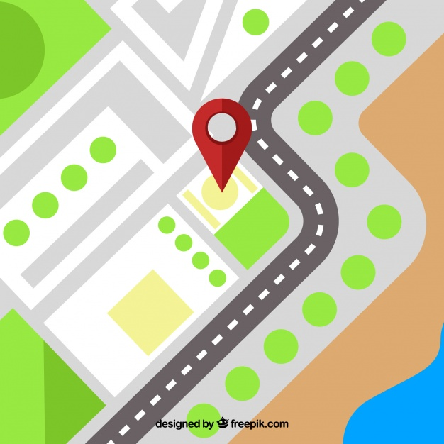 626x626 Gps Background With Pin Map Vector Free Download