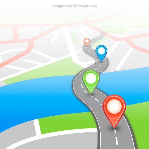 626x626 Gps Map With Pins Vector Free Download
