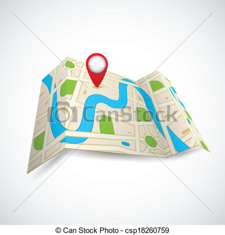 450x470 Map Clipart Gps Map