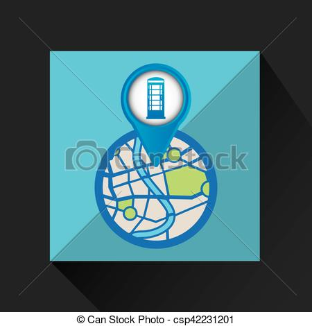 450x470 Mobile Device England Gps Map Vector Illustration Eps 10 Vector