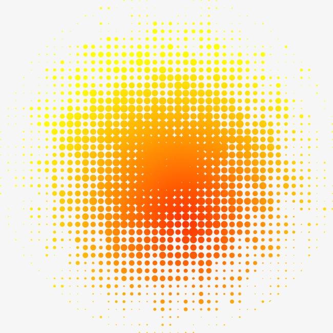 650x649 Dot Gradient Background, Dot Vector, Gradient Vector, Orange Png