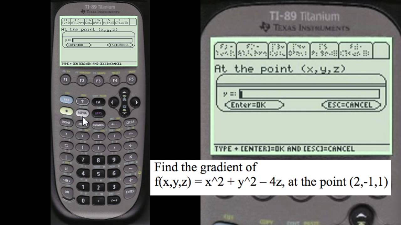 1280x720 Find The Gradient Of Point Every Step Calculus Ti89