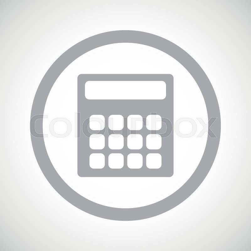 800x800 Grey Image Of Calculator In Circle, On White Gradient Background