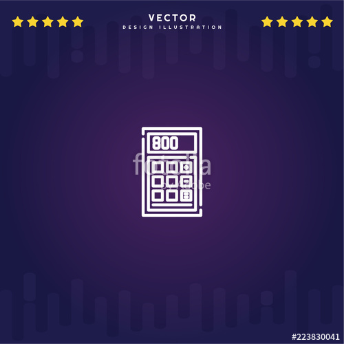 500x500 Premium Symbol Of Calculator Related Vector Line Icon Isolated On