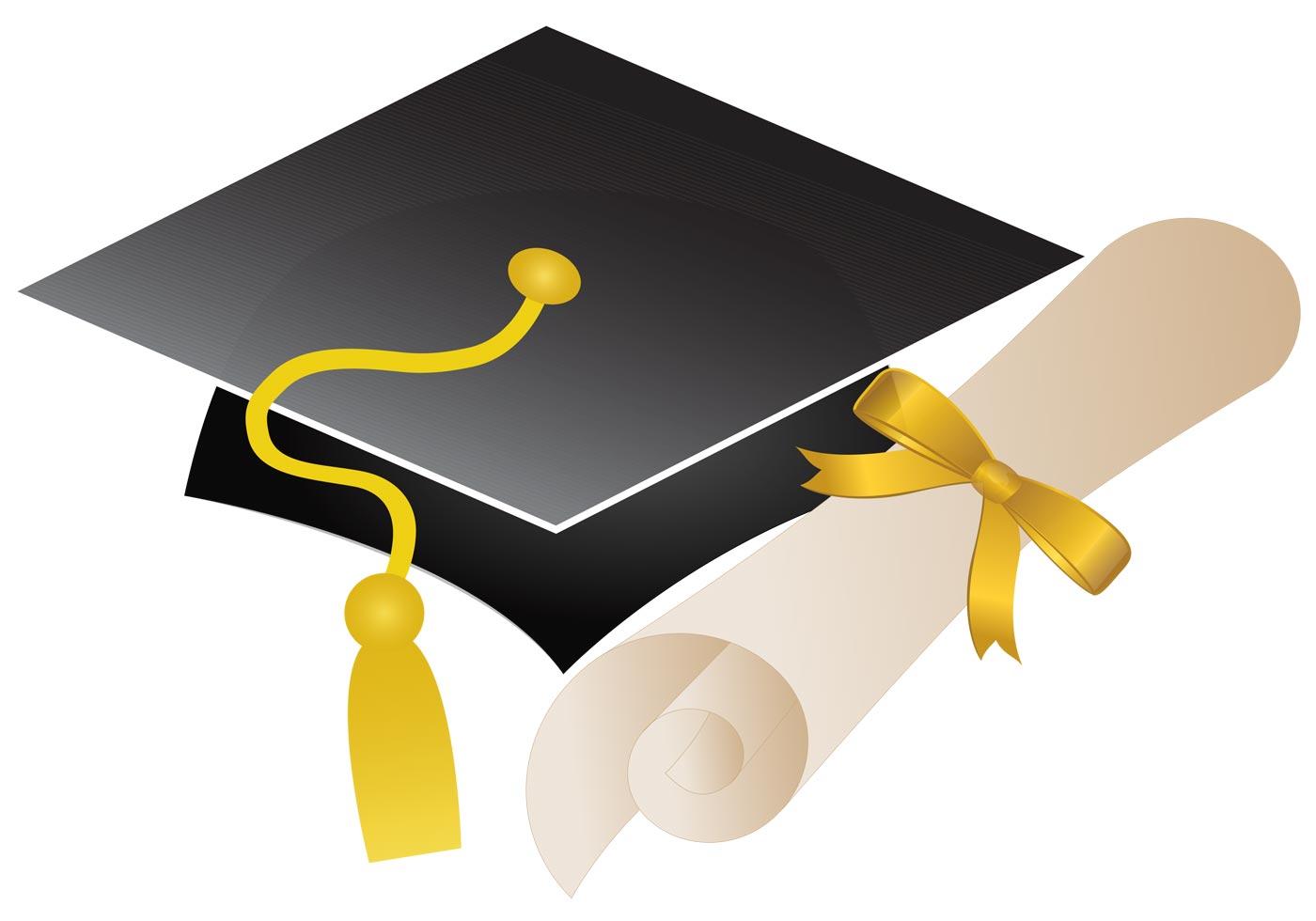 1400x980 Graduation Hat Free Vector Art