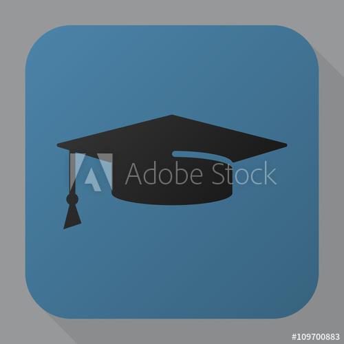 500x500 Graduation Cap Icon Vector