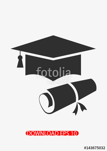 354x500 Graduation Cap Icon, Vector Stock Image And Royalty Free Vector