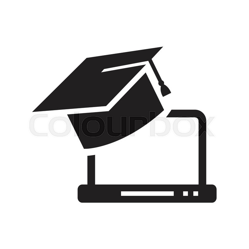 800x800 Graduation Cap Icon Stock Vector Colourbox
