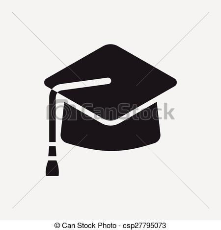 450x470 Graduation Cap Icon Vectors Illustration