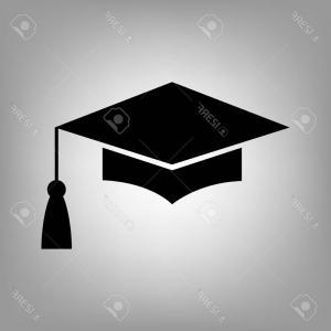 300x300 Stock Illustration Graduation Cap Vector Icon Rongholland
