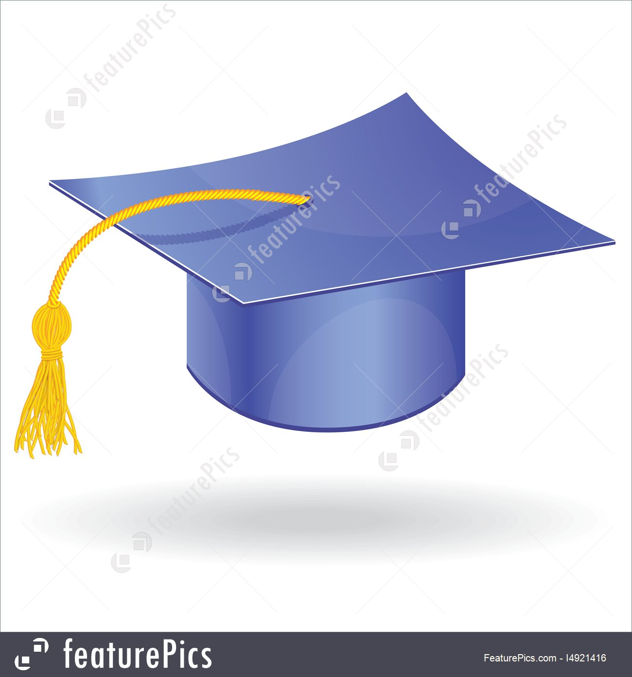 1300x1392 Graduation Cap Vector Stock Illustration I4921416
