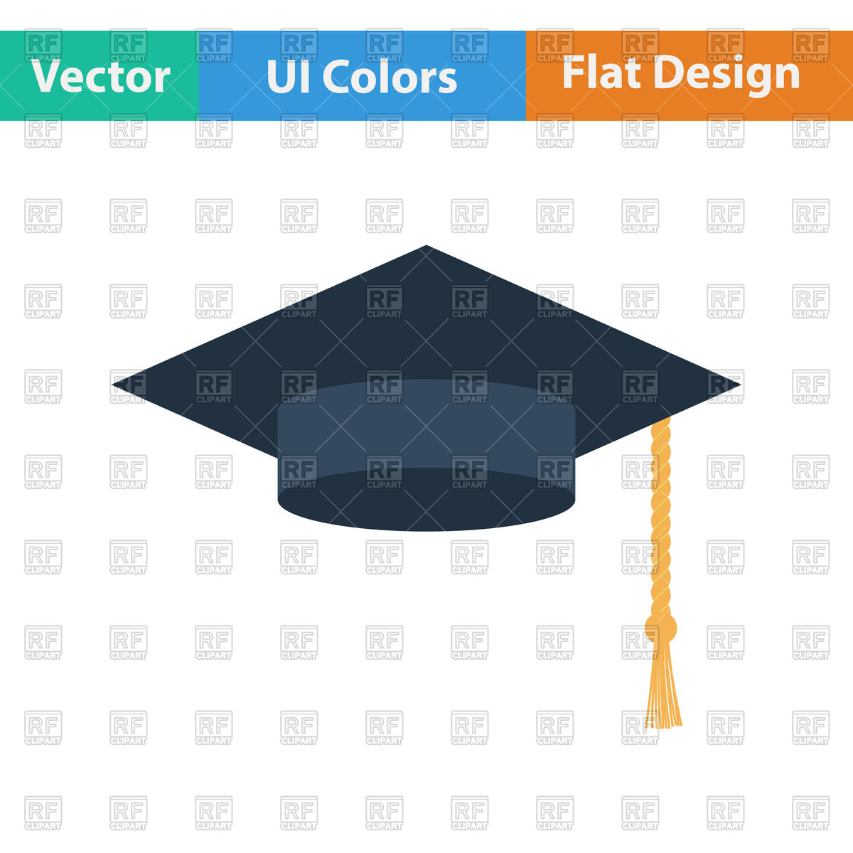 1200x1200 Graduation Cap Vector Image Vector Artwork Of Signs, Symbols