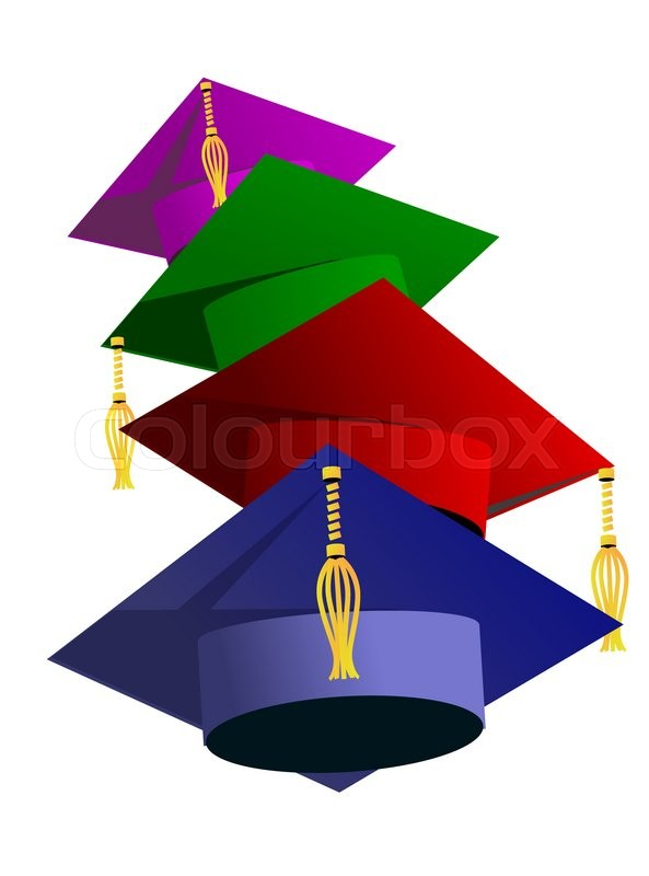 593x800 Graduation Hat Vector Illustration. Education Hat, Students Or