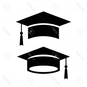 300x300 Photostock Vector Academic Graduation Cap Vector Icon Orangiausa