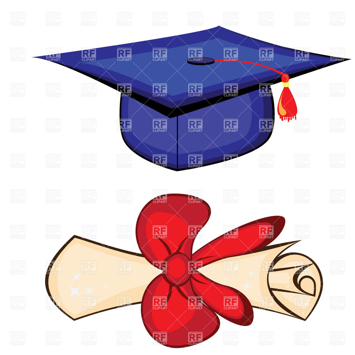 1200x1200 Diploma And Graduation Cap Vector Image Vector Artwork Of