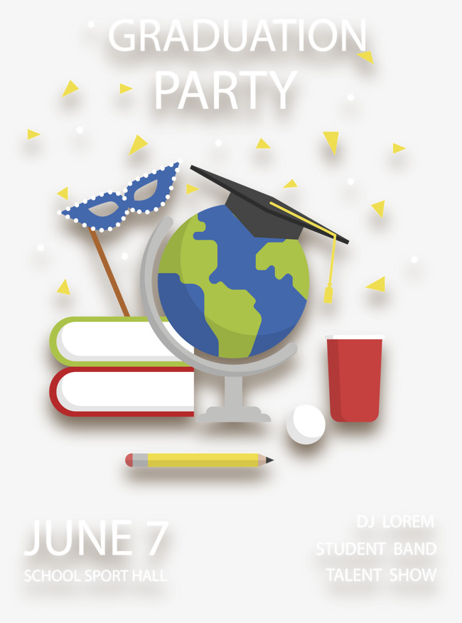 650x876 Carnival Graduation Party, Vector Material, Graduation Party
