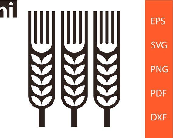 570x456 Grain Svg Wheat Svg Grain Clipart Wheat Clipart Grain Etsy