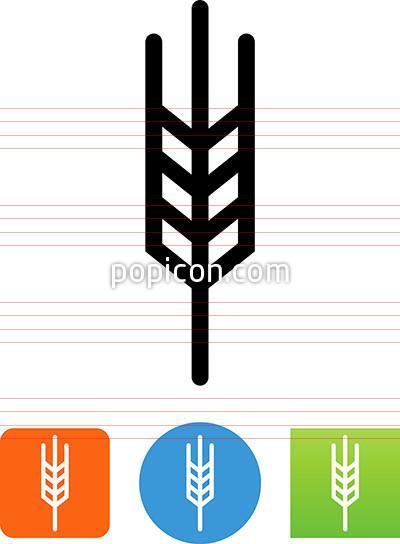 400x544 Vector Wheat Grain Icon