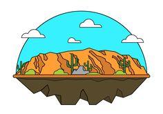 236x165 Grand Canyon Vector Illustration Vectorsampmockups