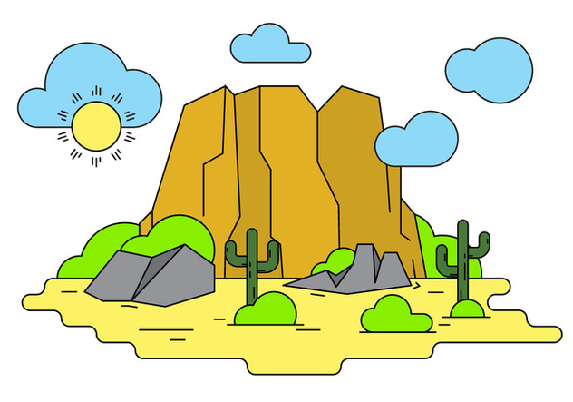 632x443 Grand Canyon Vector Illustration Free Vector Download 404513