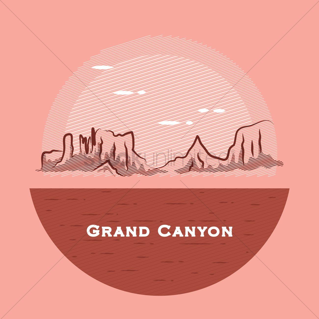 1300x1300 Grand Canyon Vector Image