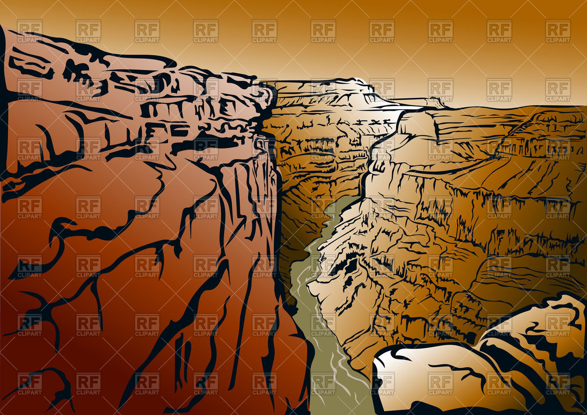 1200x848 Panorama Of The Grand Canyon And The Colorado River Vector Image