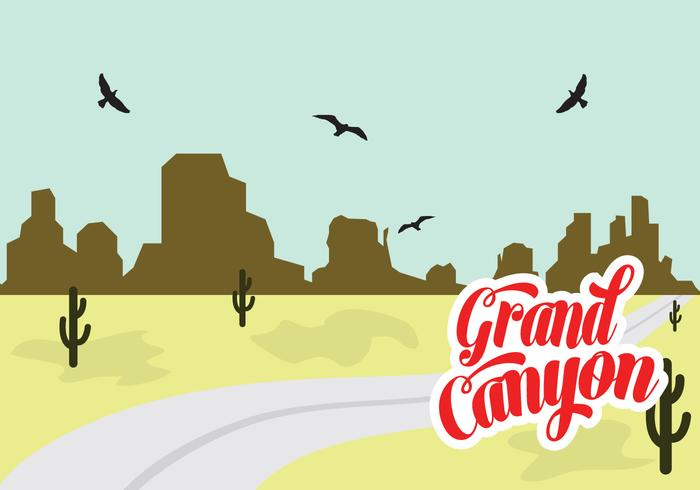 700x490 Vector Illustration Of Grand Canyon