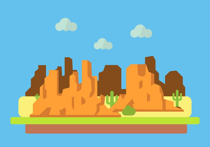 700x490 Vector Illustration Of Grand Canyon 265518