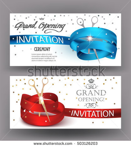 418x470 Grand Re Opening Banner Grand Opening Banners Abstract Red Blue