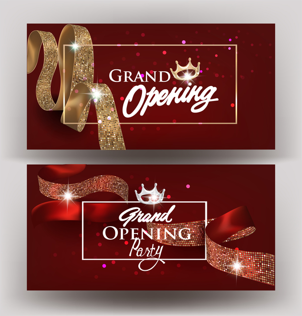 600x629 Beautiful Grand Opening Invitation Banners With Silk Ribbons