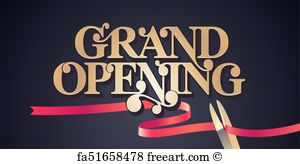 300x164 Free Art Print Of Grand Opening Vector Background. Grand Opening