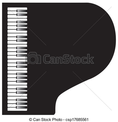 450x465 Piano. Vector Piano View From Above.