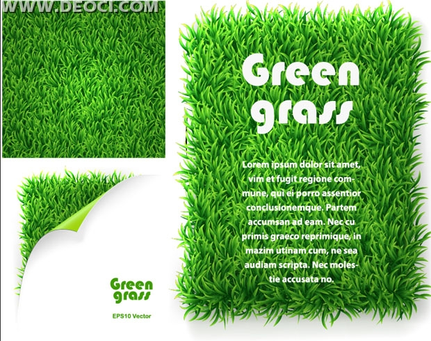 620x490 3 Vector Green Grass Lawn Background Design Material Eps File Free