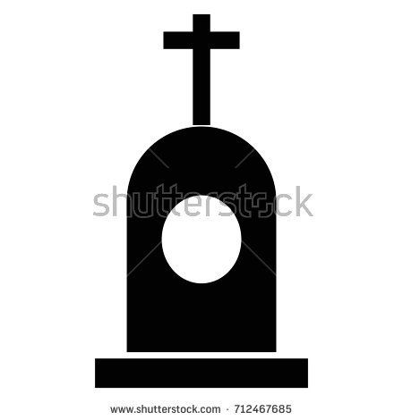 450x470 Grave Vector Black Icon On White Background. Popular