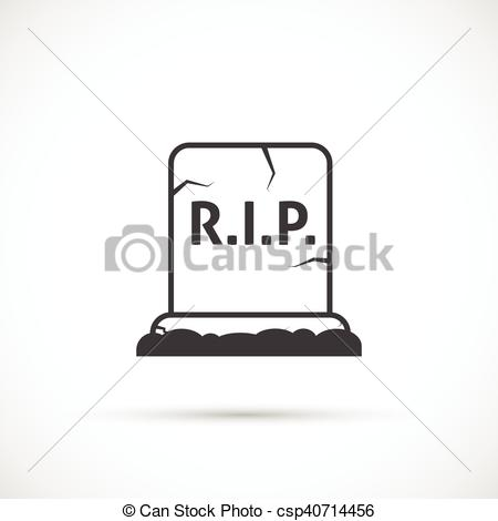 450x470 Grave Vector Icon. Grave Icon On White Background.