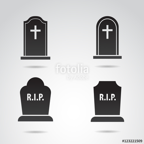 500x500 Grave Vector Icon. Stock Image And Royalty Free Vector Files On
