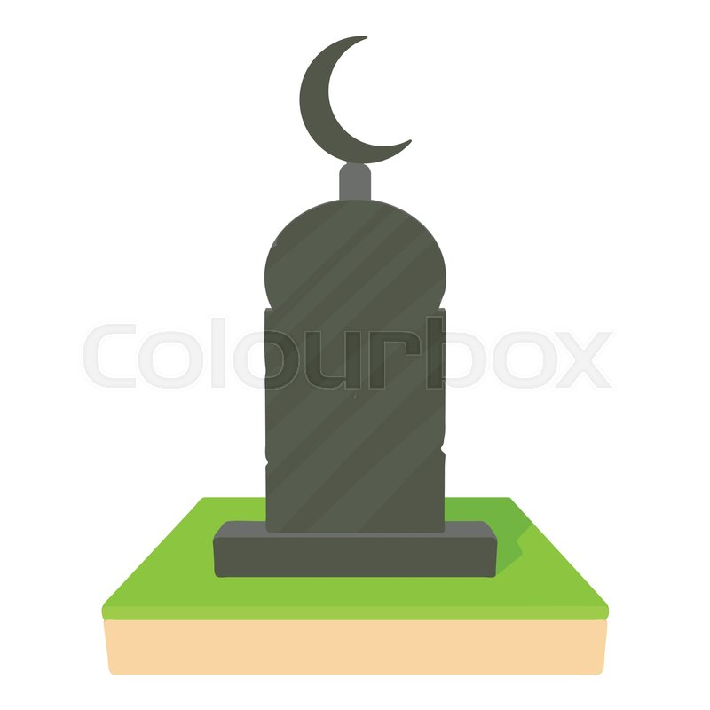 800x800 Muslim Grave Icon. Cartoon Illustration Of Muslim Grave Vector