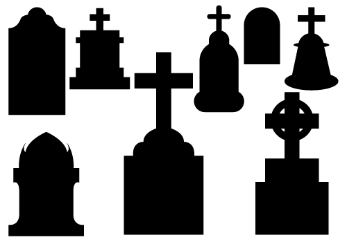 500x350 Rip Grave. Vector Illustration Of An Old Grave With Rip Vector