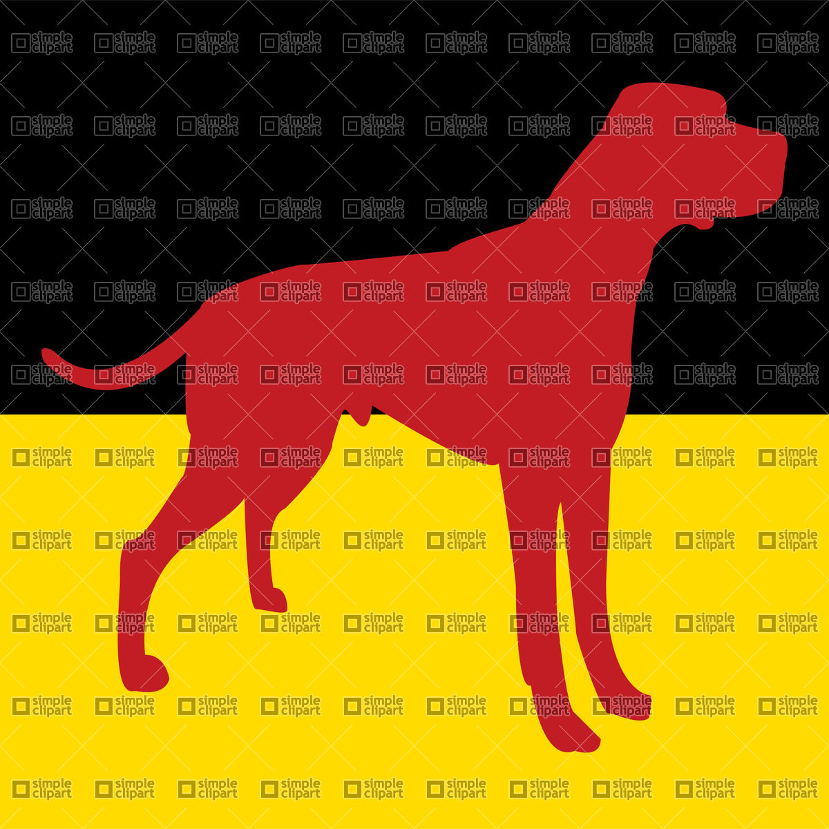 1200x1200 Silhouette Of Dog