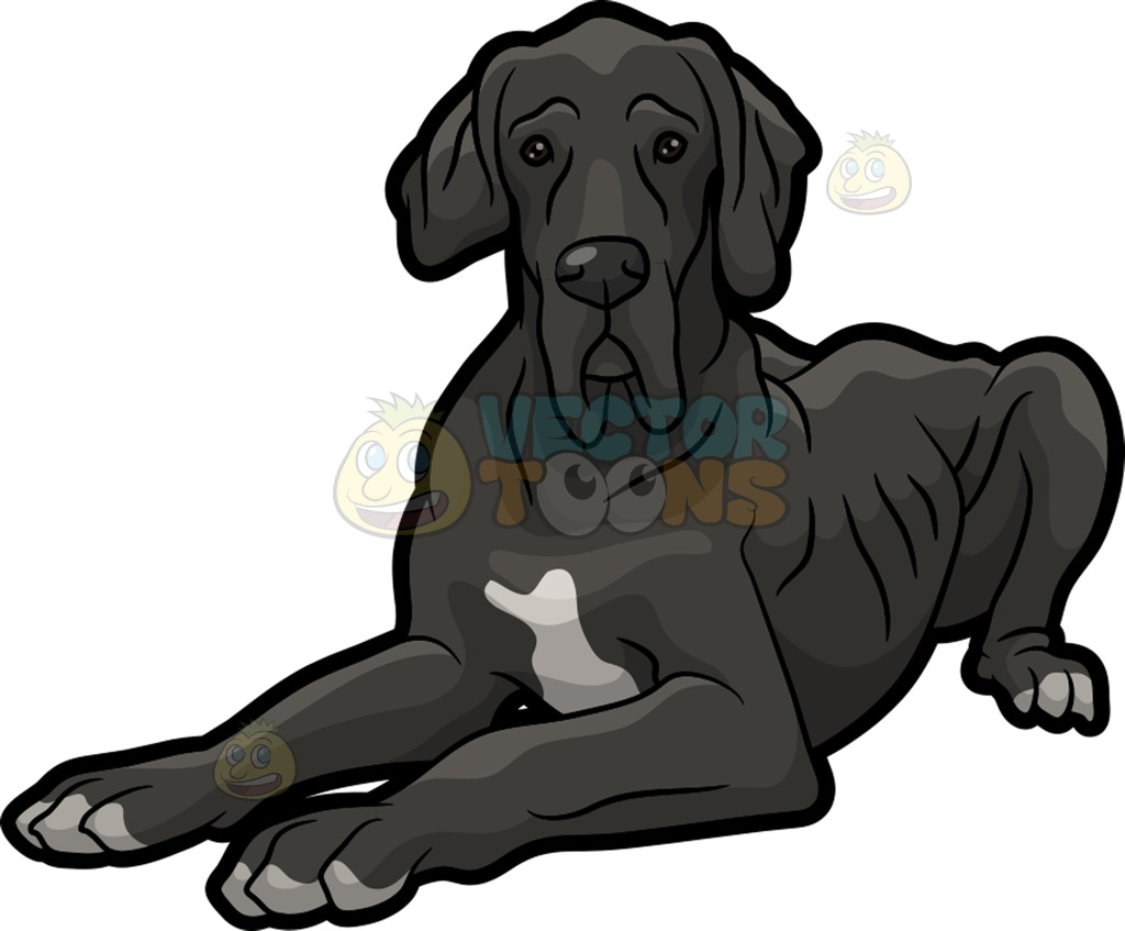 1024x847 An Old Great Dane Clipart By Vector Toons