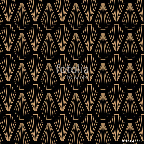 500x500 Retro, Vintage, Art Deco, Great Gatsby, Seamless Vector Pattern